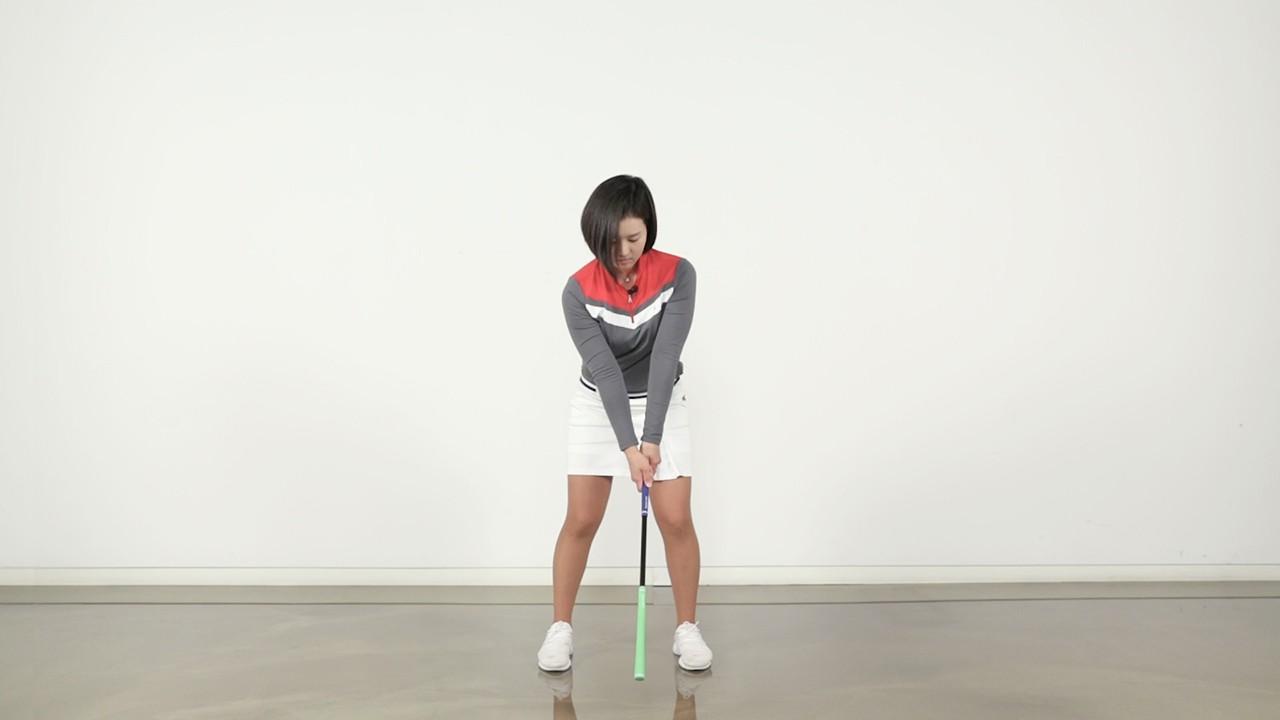 힐스틱을 이용한 골프 스윙