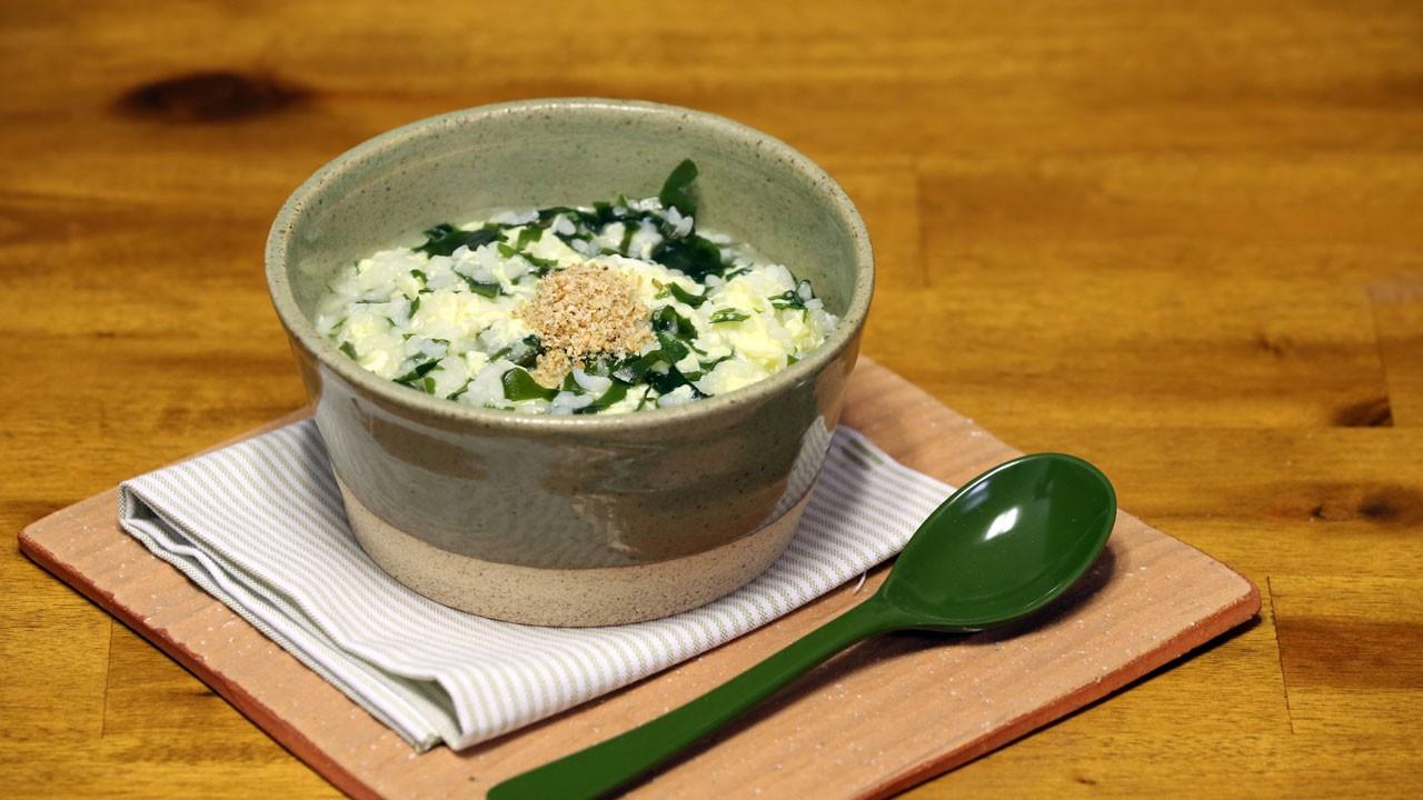 [영양죽] 산모를 위한 1등 영양죽, 미역계란죽