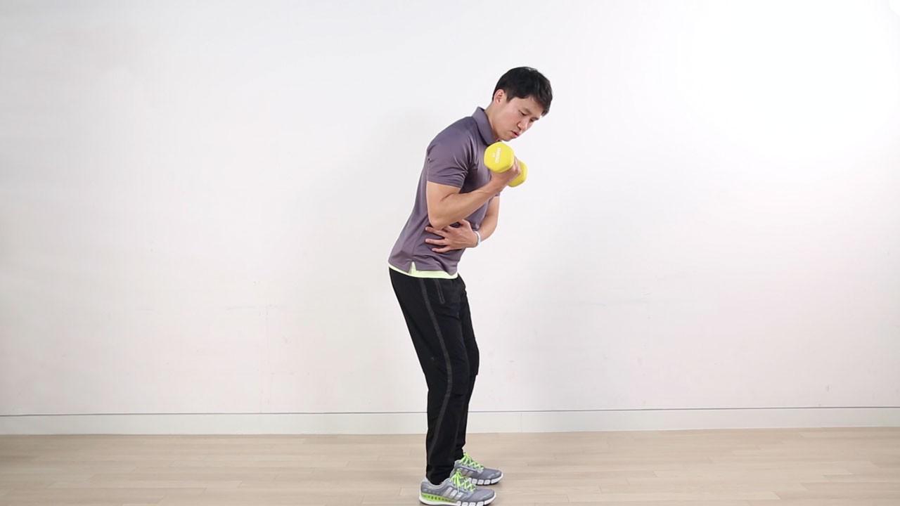 이두박근 웨이트 운동 -덤벨 컬